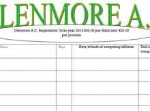 Glenmore Registration Form