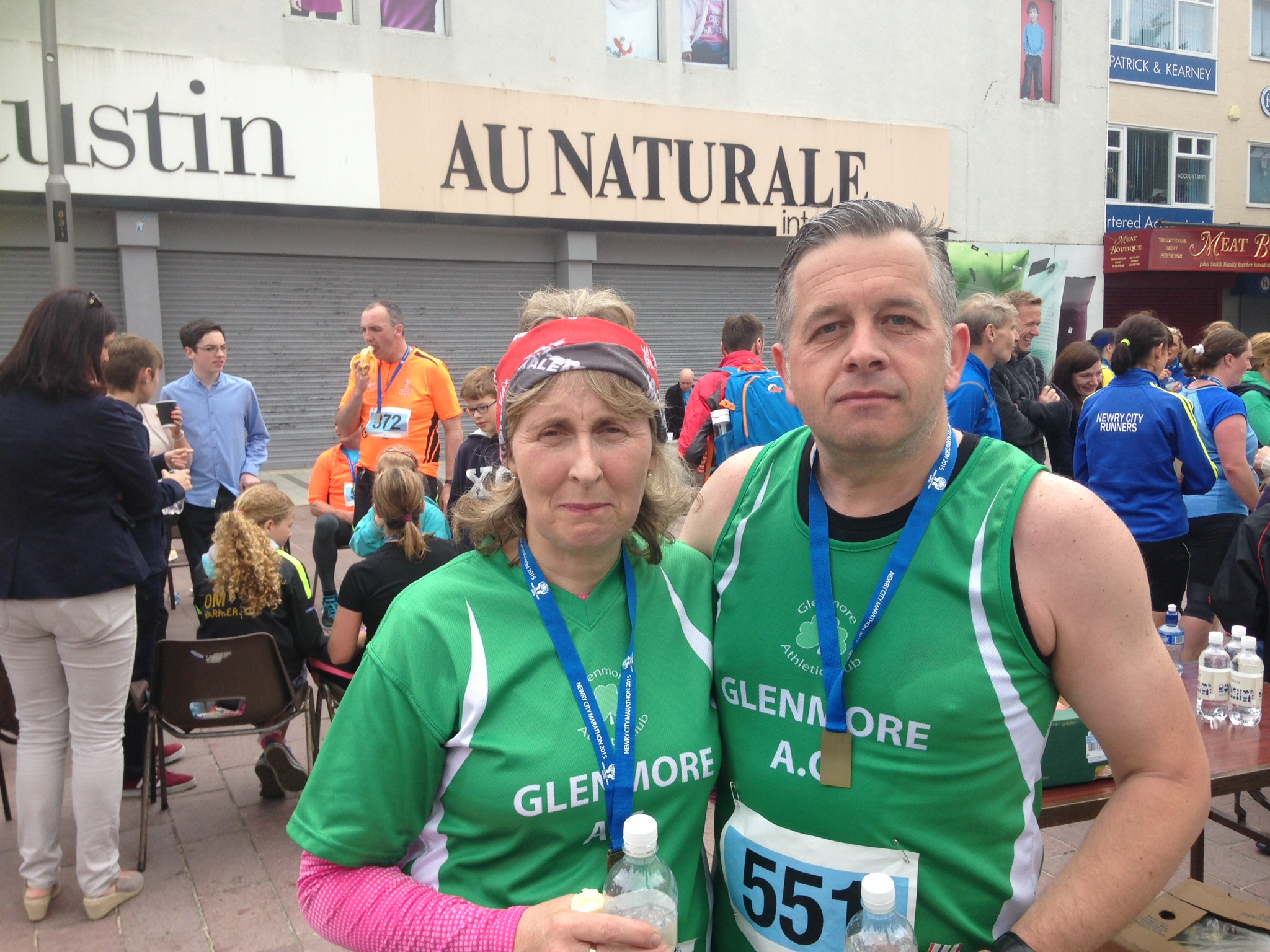 Gerry and Rose - Newry half marathon 2015